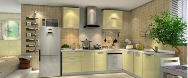 Aluminum Profiles Can Be Connected Into A Complete Kitchen Cabinet Quickly  And Conveniently. Thereu0027s No Need Of Complex Assembling Or Installation  Before ...