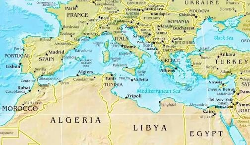 What are the countries surrounding the Mediterranean Sea ...