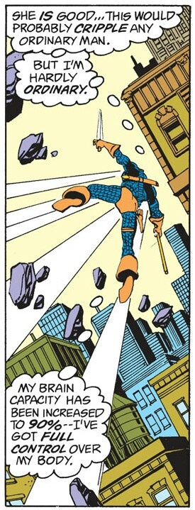 Does Deathstroke have any 'superpowers' beyond his training