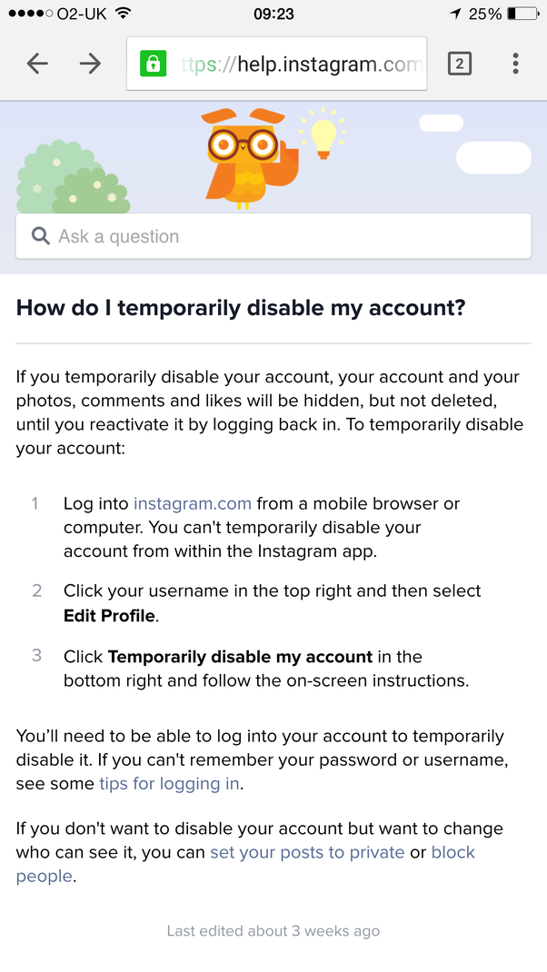 I temporarily disabled my instagram account but i cant log into it it means there might be some other issues involved and i suggest to follow the link mentioned in this page how do i temporarily disable my account ccuart Gallery