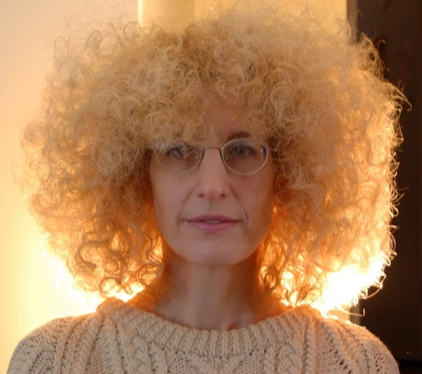 White person with an afro