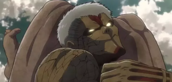 Of Course After This The Armoured Titan Manages To Escape From Arm Bar Because Eren Just Tore It Off And Reiner Now Goes In For Spear