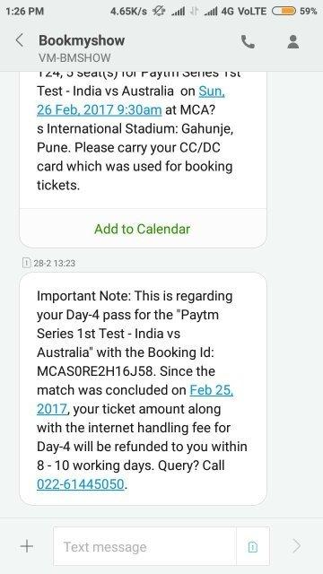 Match com refund within 3 days