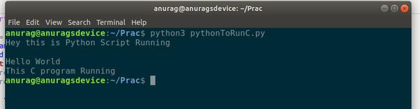 How to write a Python script to run a C program - Quora