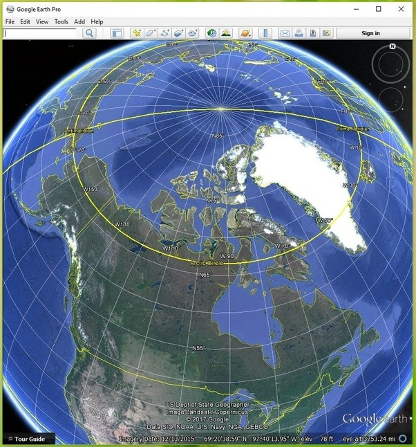 Now Letu0027s Turn On The Grid So We Can See The Latitudes (east/west Lines)  And Longitudes (north/south Lines). Notice How The Longitude Lines  (meridians) ...