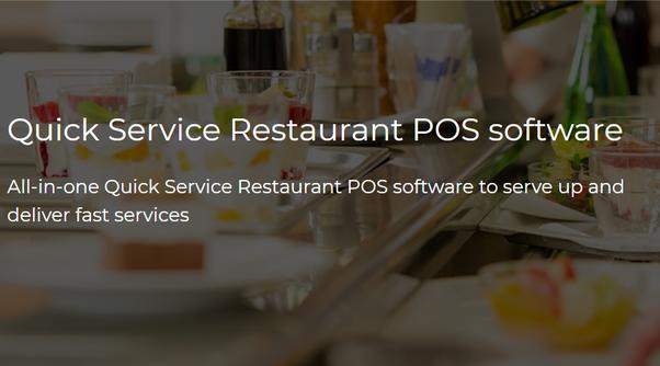 Quel système de point de vente est recommandé pour un restaurant à service rapide?