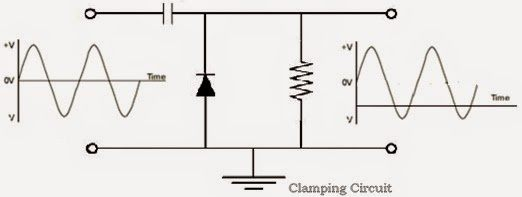 what is the use of capacitor in a clamper circuit