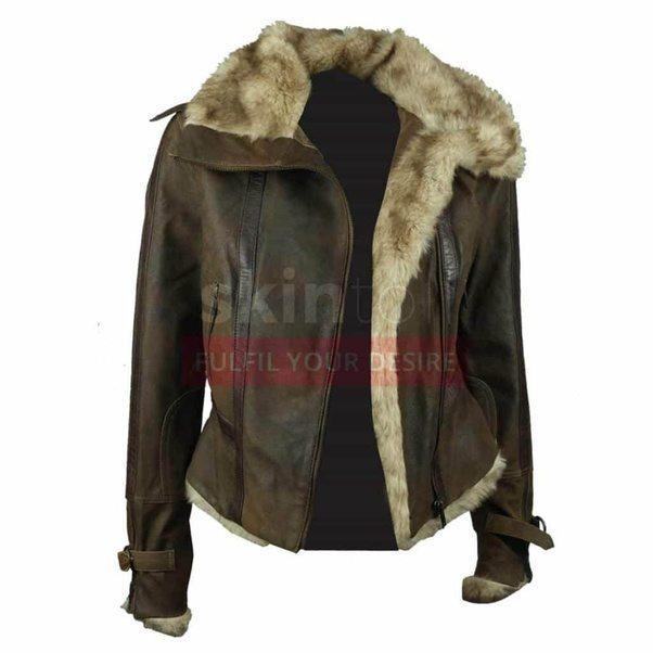 Now Women Warm Winter Leather Jacket