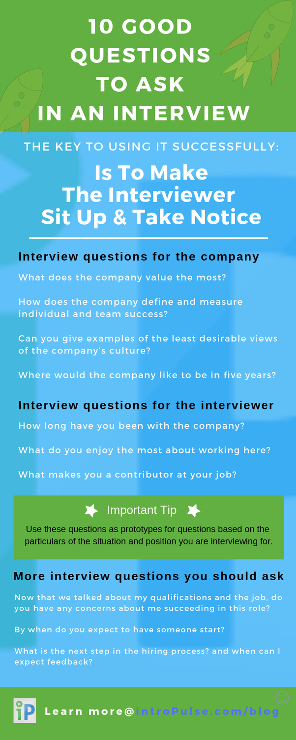 What questions should I ask my interviewer? - Quora