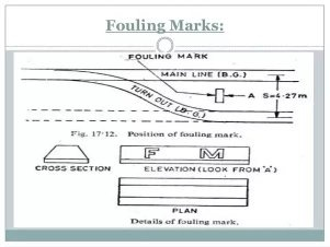 What does the fouling mark in railway tracks signify? - Quora
