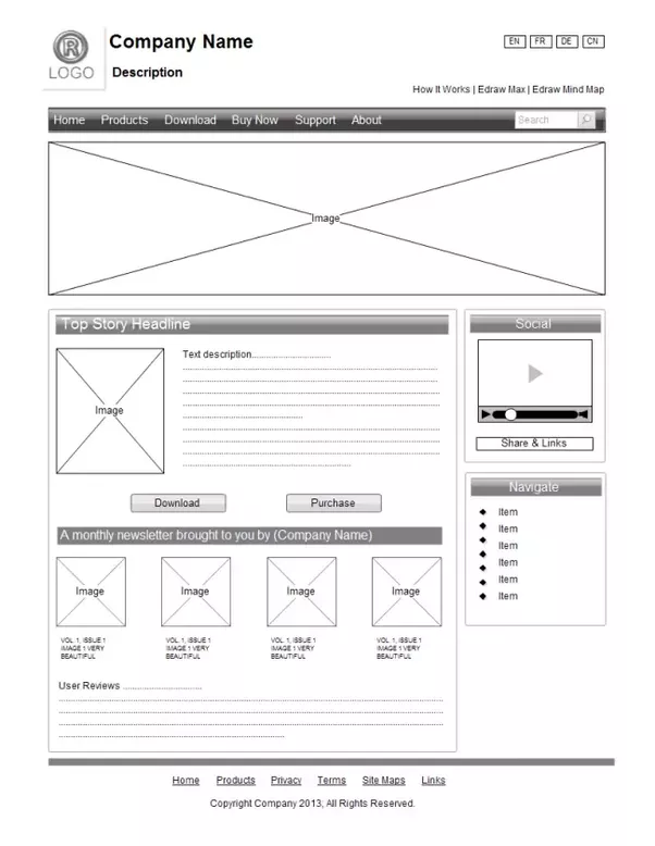 Whats a good software for website design why quora edraw website wireframe designer helps you visually create a prototype of your future website using the blocks in the framework malvernweather Images