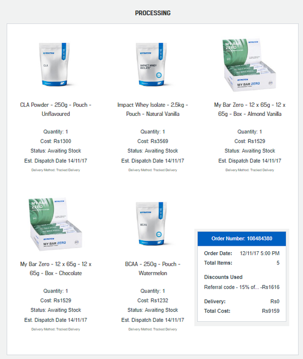 Has anyone in India purchased any product from myprotein com