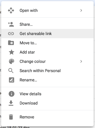 How to hyperlink a cell in Google sheet to a folder placed