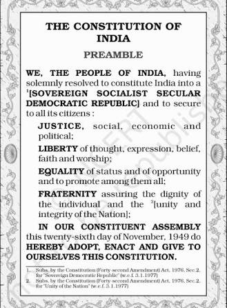 Image result for preamble of india