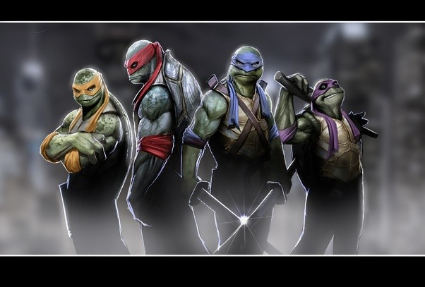 What are the names of the Teenage Mutant Ninja turtles? What color ...