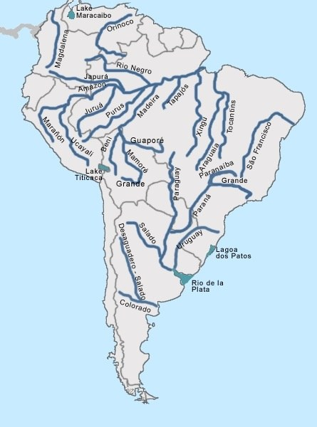If Much Of The West Coast Of South America Is Affected By A Rain - East coast rivers map
