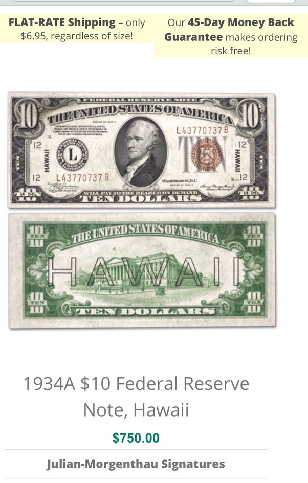 I found a $10 bill from 1934, is it worth any money? - Quora