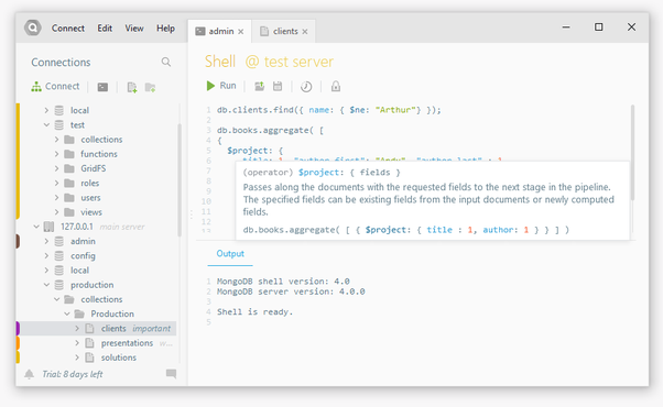 Which is the best, free GUI for MongoDB/NoSQL DB? - Quora