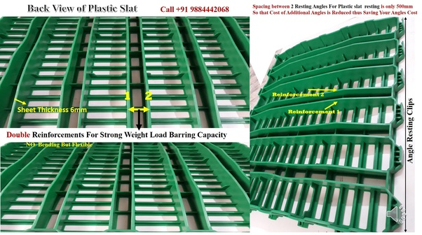 What is the cost of plastic slatted flooring for a goat farm