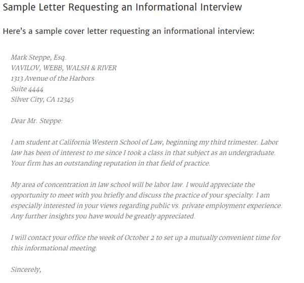 How to write a letter of introduction for employment quora source httpmoritzlawosucareersstudentsstart your job searchinformational interviewssample informational interview request letter altavistaventures