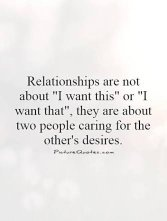 What do people want from relationships