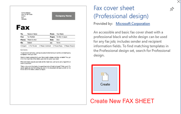 How to write Fax Cover Sheet letter from Microsoft Word ...