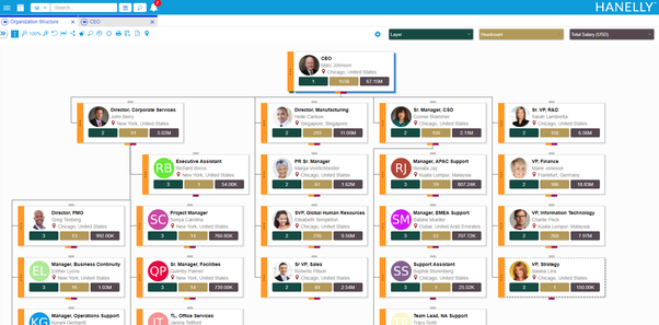 it's also mobile friendly so your team can access the org chart and all the  out-of-box analytics at all times