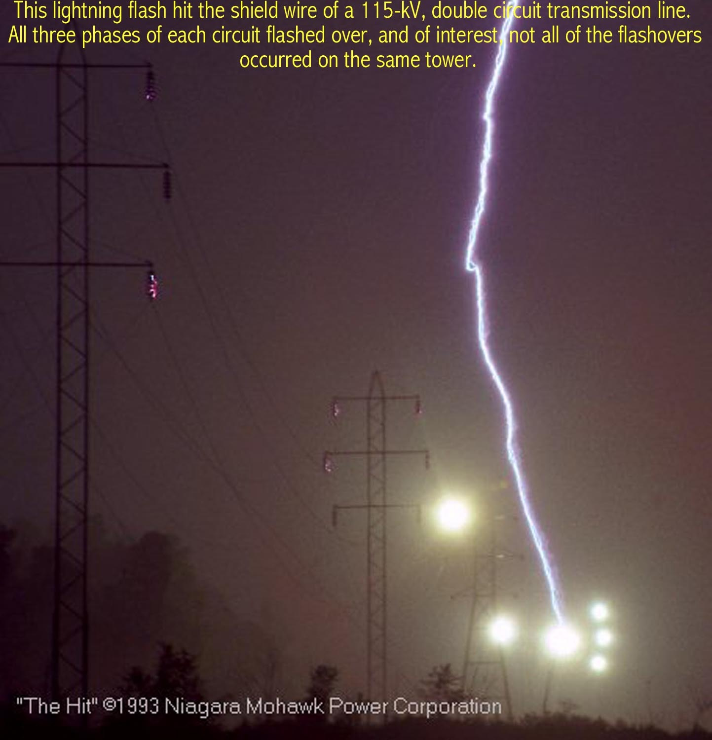 In All These Cases High Voltage Lightning Surges Speed Away In Both Directions Along The Transmission Lines Until They Encounter Protective Lighting