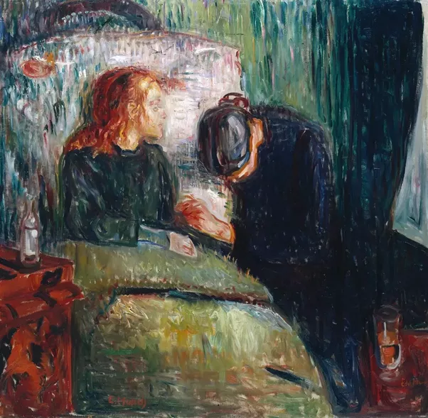 What are some examples of sad paintings made by famous ...  Sad Paintings