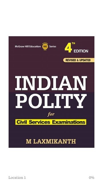 Best book for political science upsc