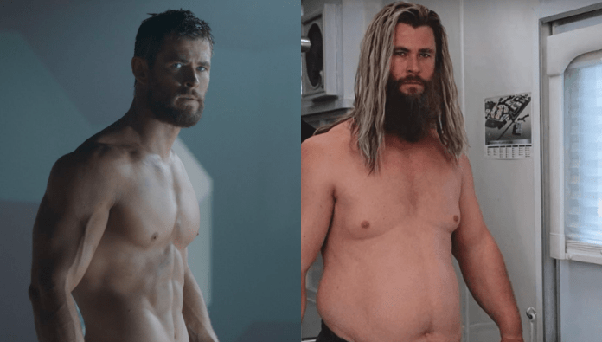 How Did They Make Thor Look Fat In Avengers Endgame What