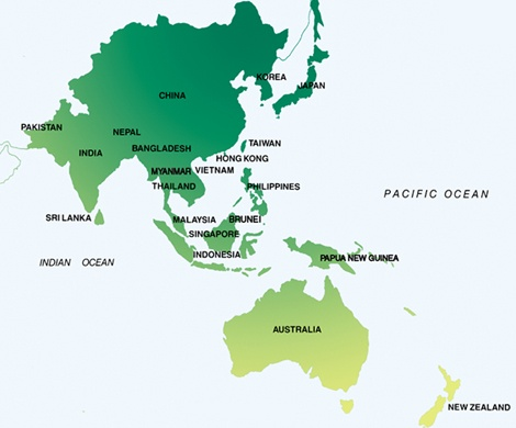 Map Of Asia And Pacific Region.What Do You Mean By Asia Pacific Why Is It Called Asia