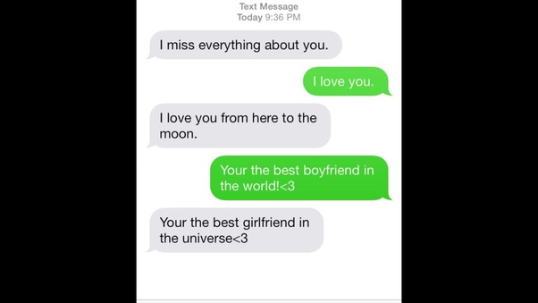 What to text your girlfriend