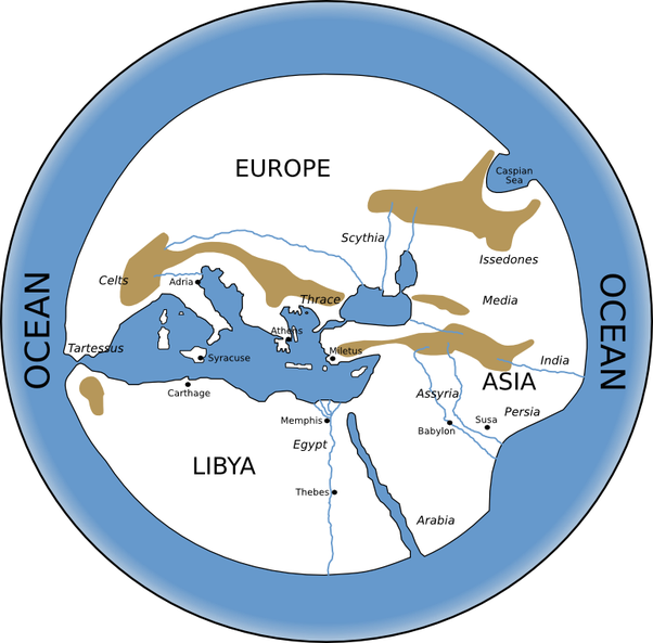 When was the first world map drawn and how accurate is it compared 2 hecataeus who improved upon anaximanders work and documented the different nations and races known to the roman empire in circuit of the earth gumiabroncs Images