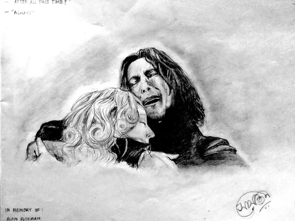 Severus Snape Harry Potter Character Medium Graphite Pencil