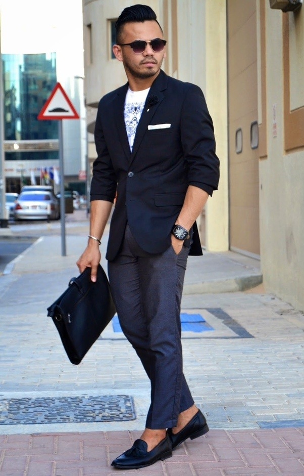 Can loafers go with casual shirt and pant quora for Mens shirt with tassels