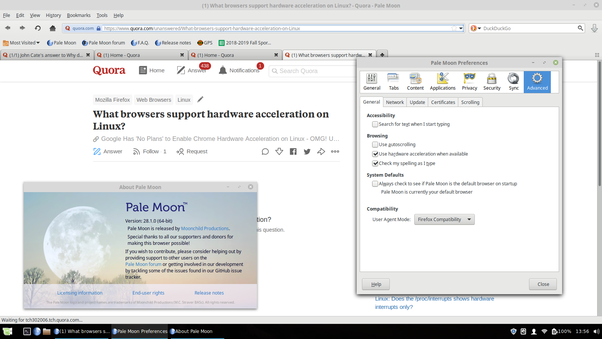 What browsers support hardware acceleration on Linux? - Quora