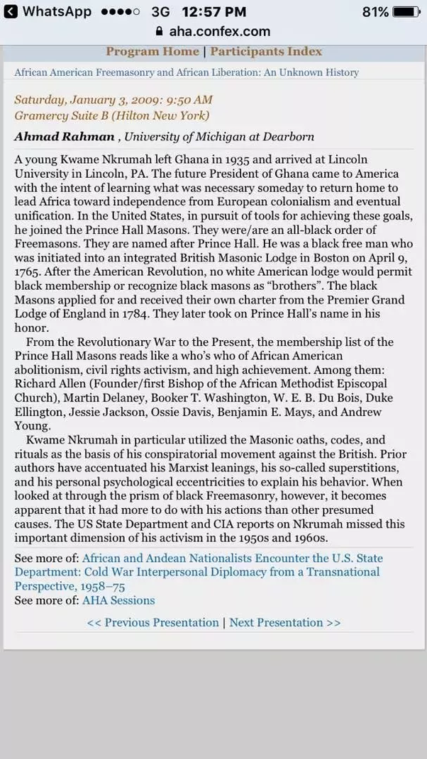 Was Kwame Nkrumah a freemason? - Quora