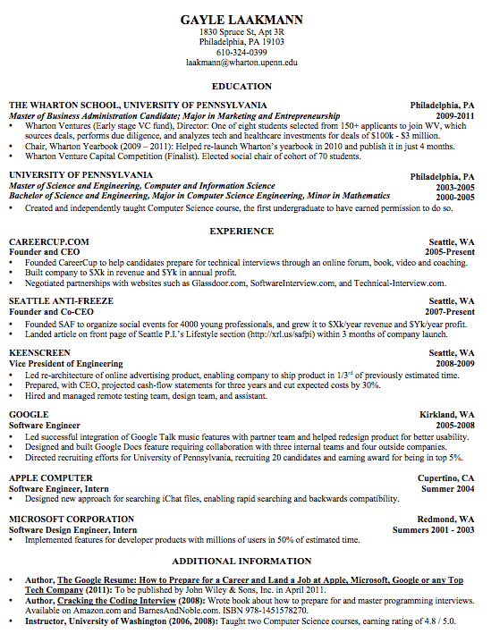 What Are The Best Formats For A Resume?  Educational Resume Format