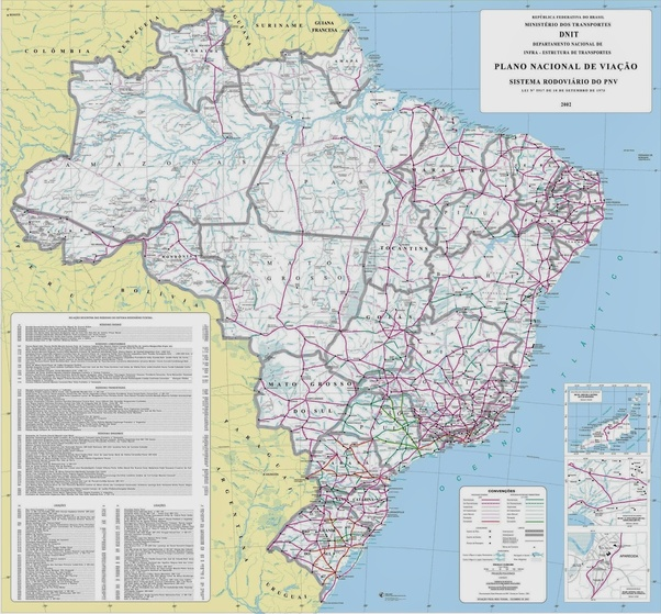 Is there an international road from Brazil through the whole of