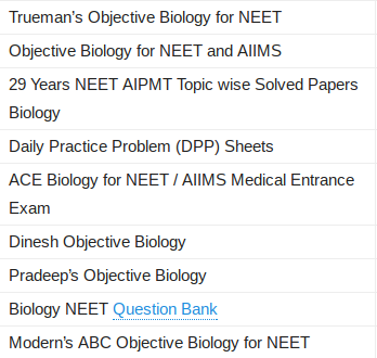 which books i should refer for neet preparation quora