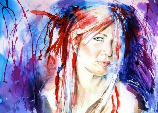 Most Beautiful Watercolor Paintings Artist Nicola Lautre