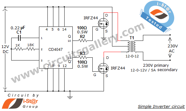 Can i have a practical inverter circuit quora circuit diagram of dc to ac inverter circuit cheapraybanclubmaster Gallery