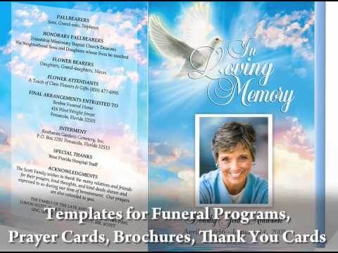 You Do Not Want To Have To Learn A New Software Program During This Already  Busy And Stressful Time.  Funeral Program Word Template