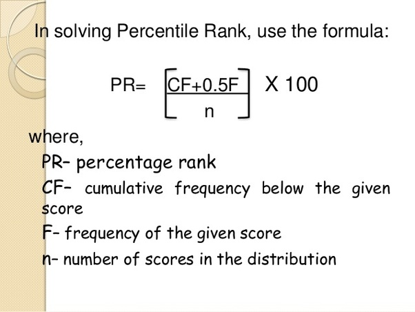How to calculate percentile and how it is different from
