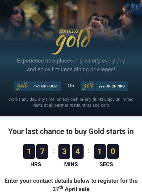 How to get a discount on the zomato gold offer is there any coupon how to get a discount on the zomato gold offer is there any couponpromo code effectively working quora stopboris Image collections