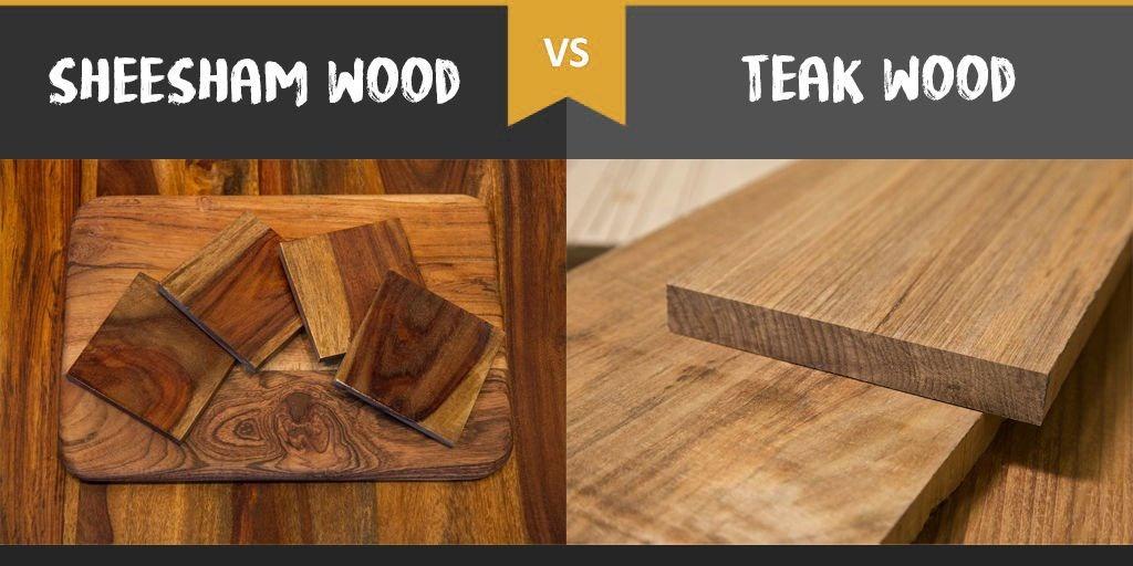 Differences between Sheesham wood and Teakwood