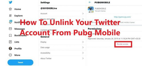 How to unlink my Twitter account from a PUBG mobile - Quora