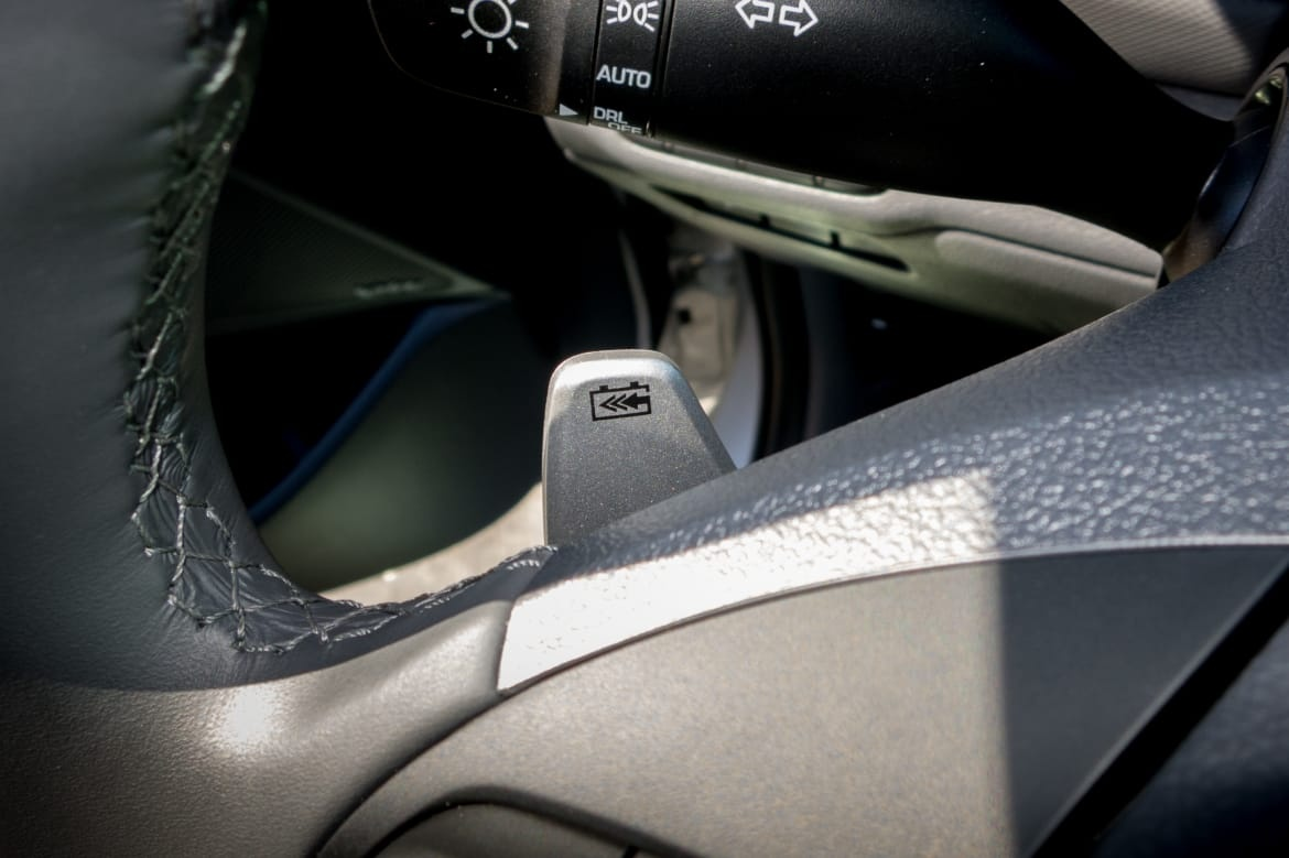 The Cadillac Elr Has A Regen On Demand Feature That Uses Paddles To Turn And Off Temporary Basis