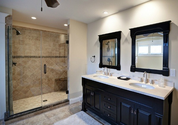 When remodeling a master bathroom what is more important for resale ...